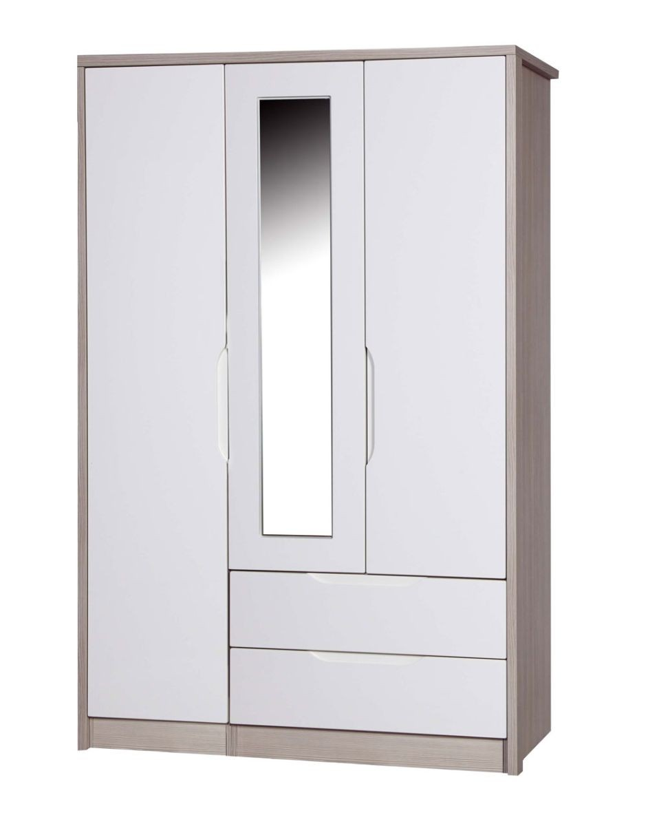 Avola Champagne With Cream Gloss 3 Door Combi Robe