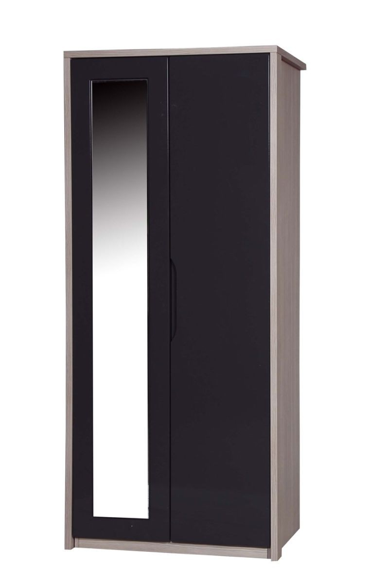 Avola Champagne With Grey Gloss Double Robe With Mirror