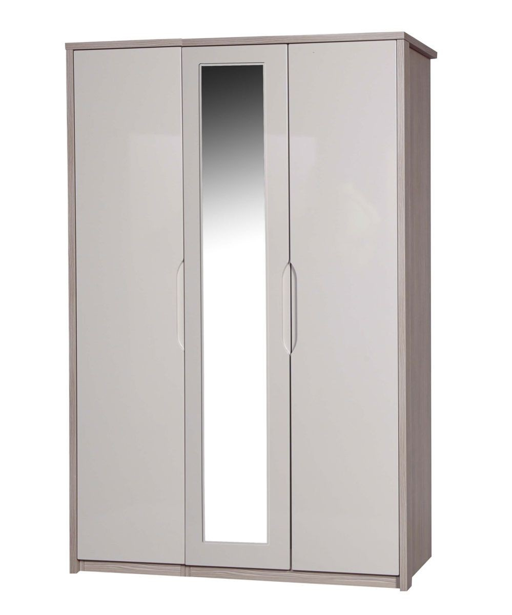 Avola Champagne With Sand Gloss 3 Door Robe With Mirror