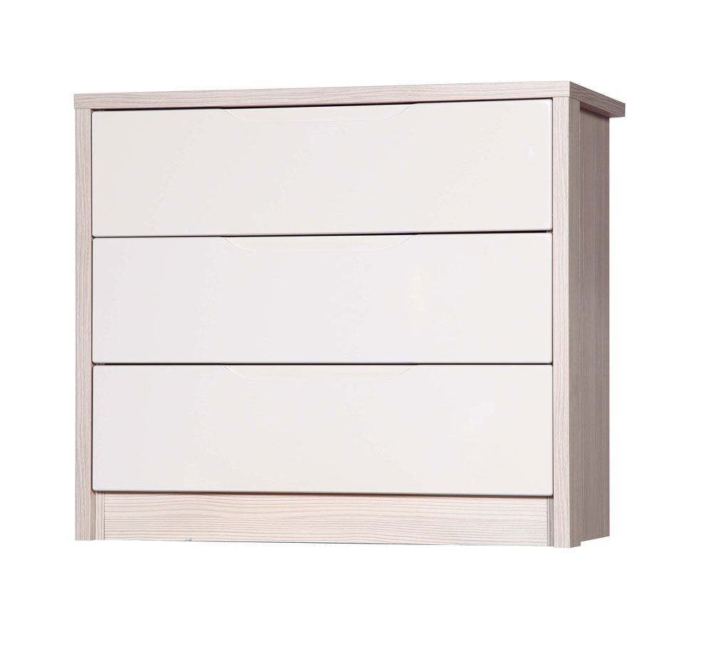 Avola Champagne With Sand Gloss 3 Drawer Wide Chest