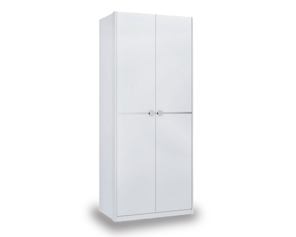 Aztec White High Gloss 2 Door Robe