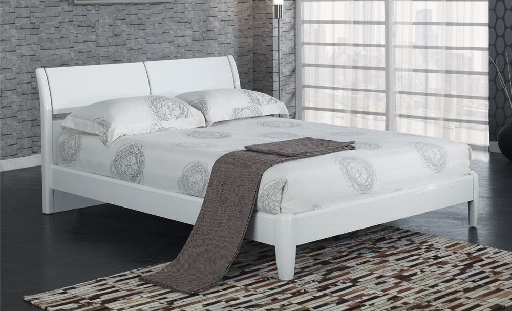 Aztec White Kingsize Bed Frame