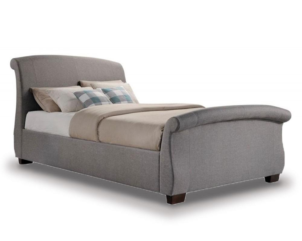 Barca Grey Sleigh Bed Frame