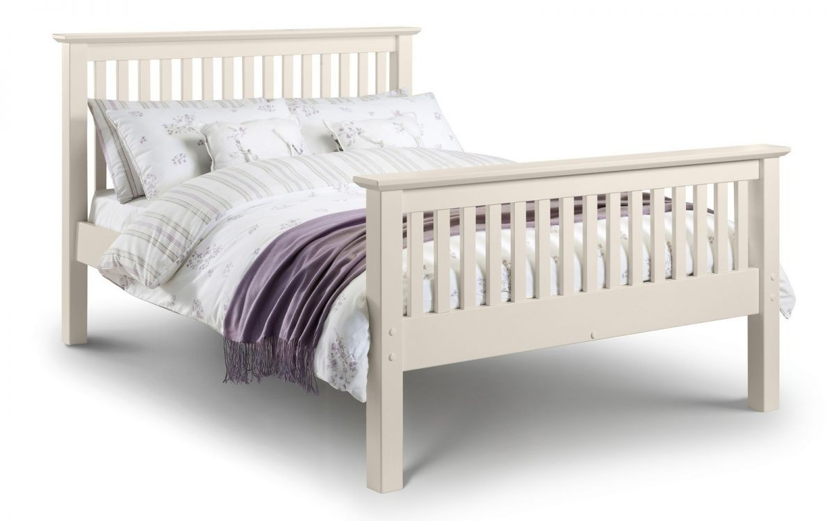 Barcelona White High Foot End Double Bed Frame