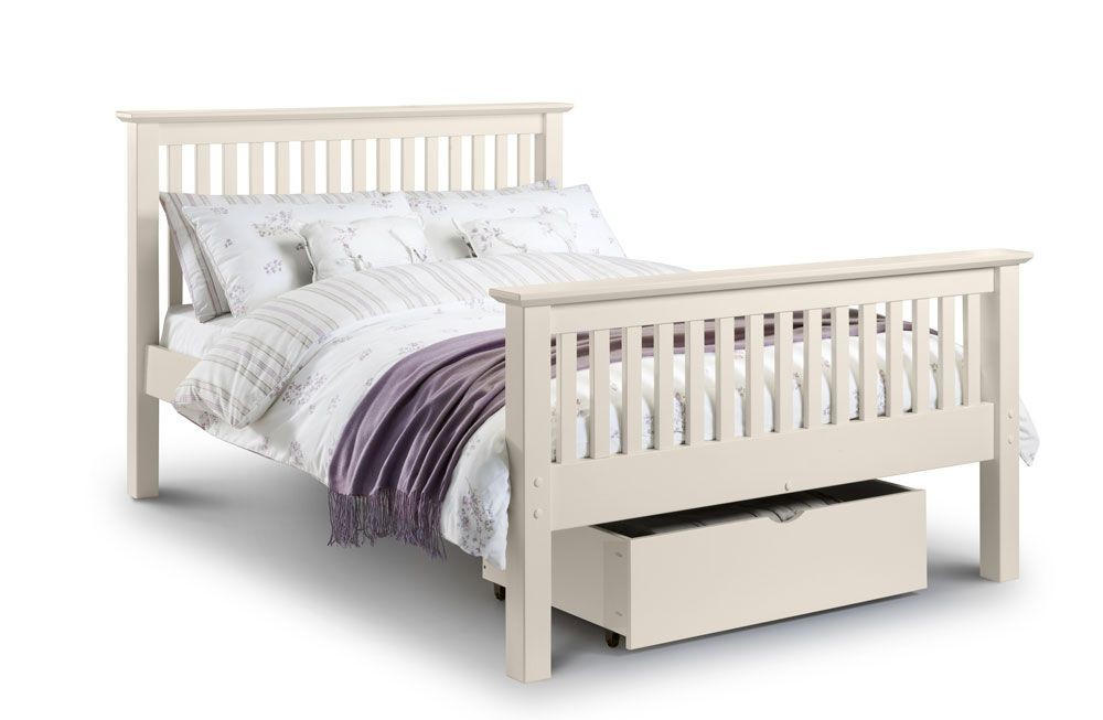 Barcelona White High Foot End Kingsize Bed Frame