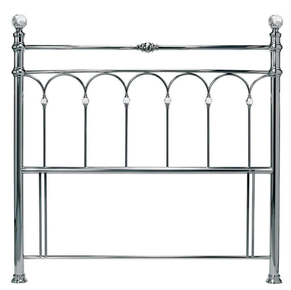 Bentley Designs Krystal Antique Nickel Double Headboard