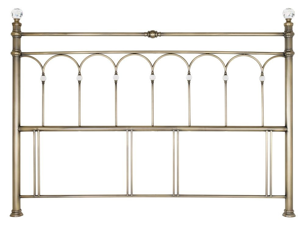 Bentley Designs Krystal Antique Brass Super King Headboard