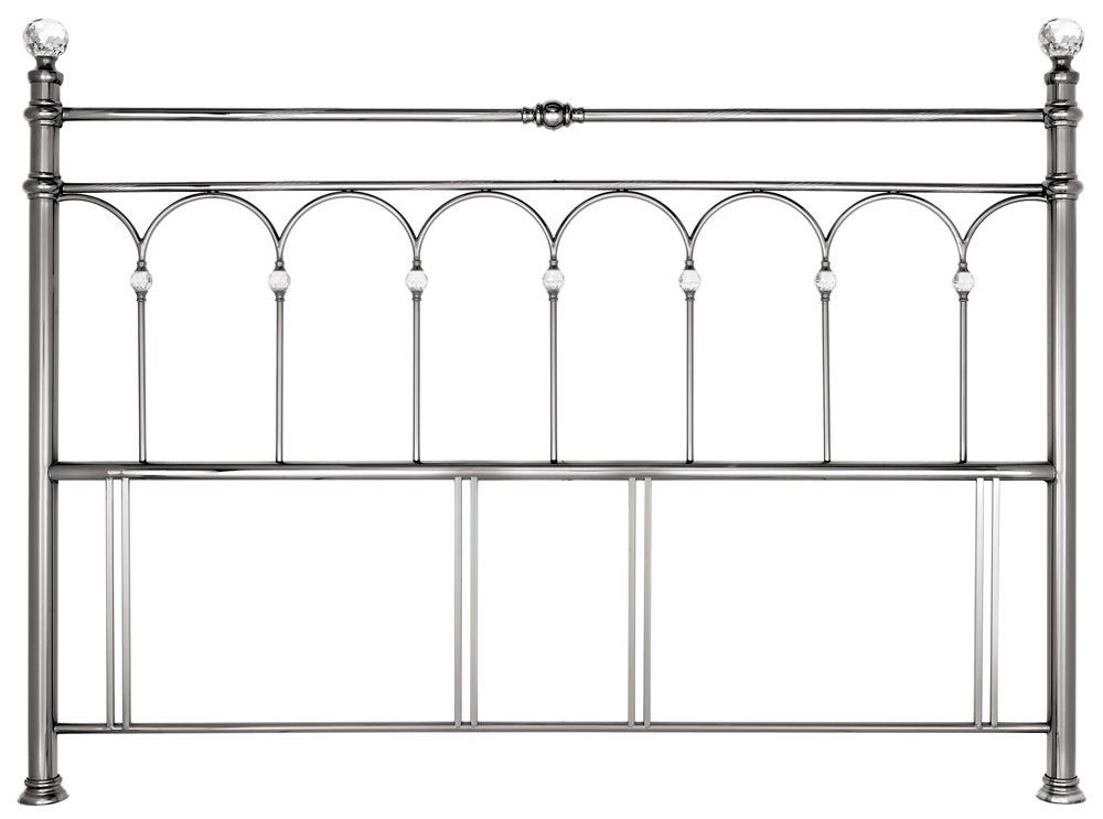 Bentley Designs Krystal Nickel Super Kingsize Headboard