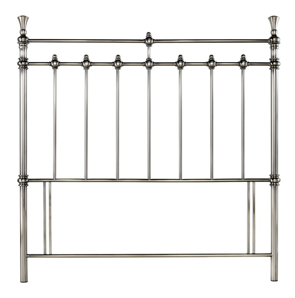 Bentley Designs Clara Antique Nickel Double Headboard