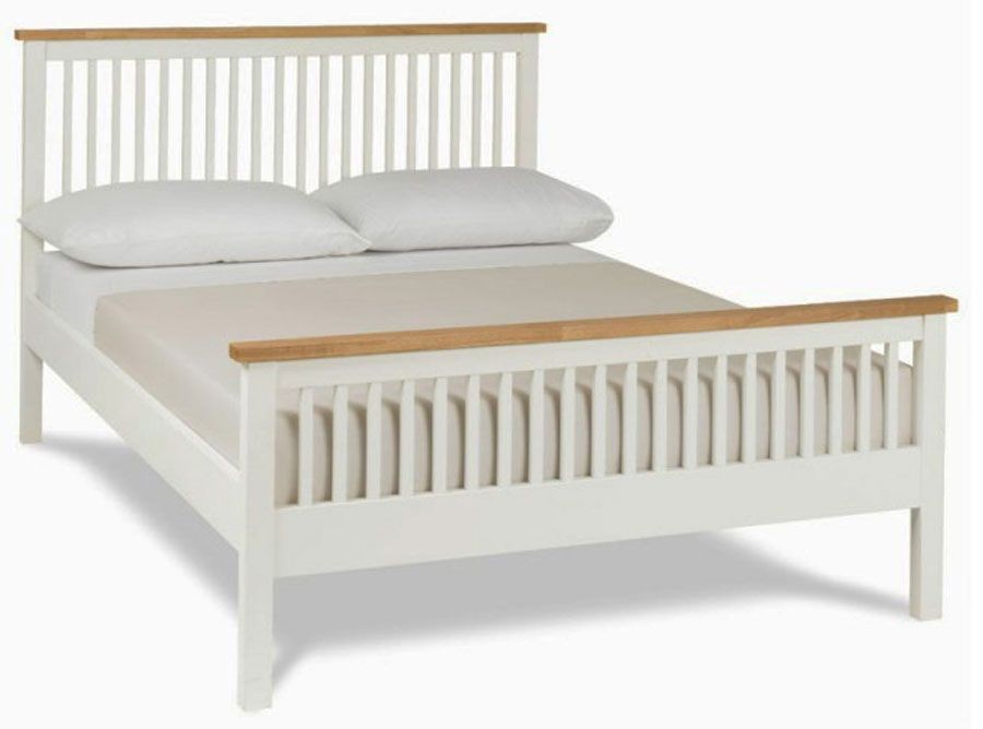 Bentley Designs Atlanta Two Tone High Foot Double Bed Frame