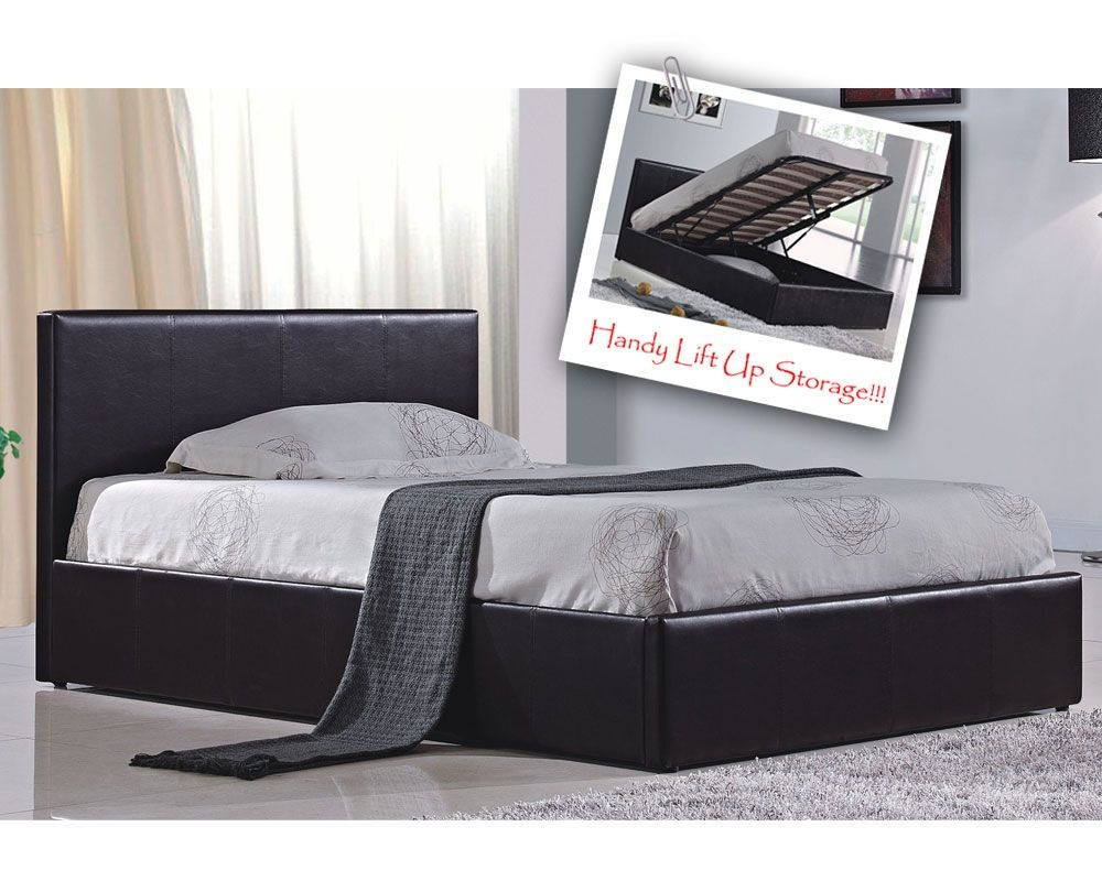 Berlin Parade Brown Kingsize Ottoman Storage Bed Frame