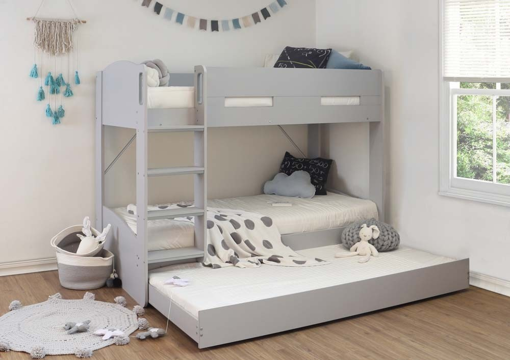 Grey William Bunk With Trundle