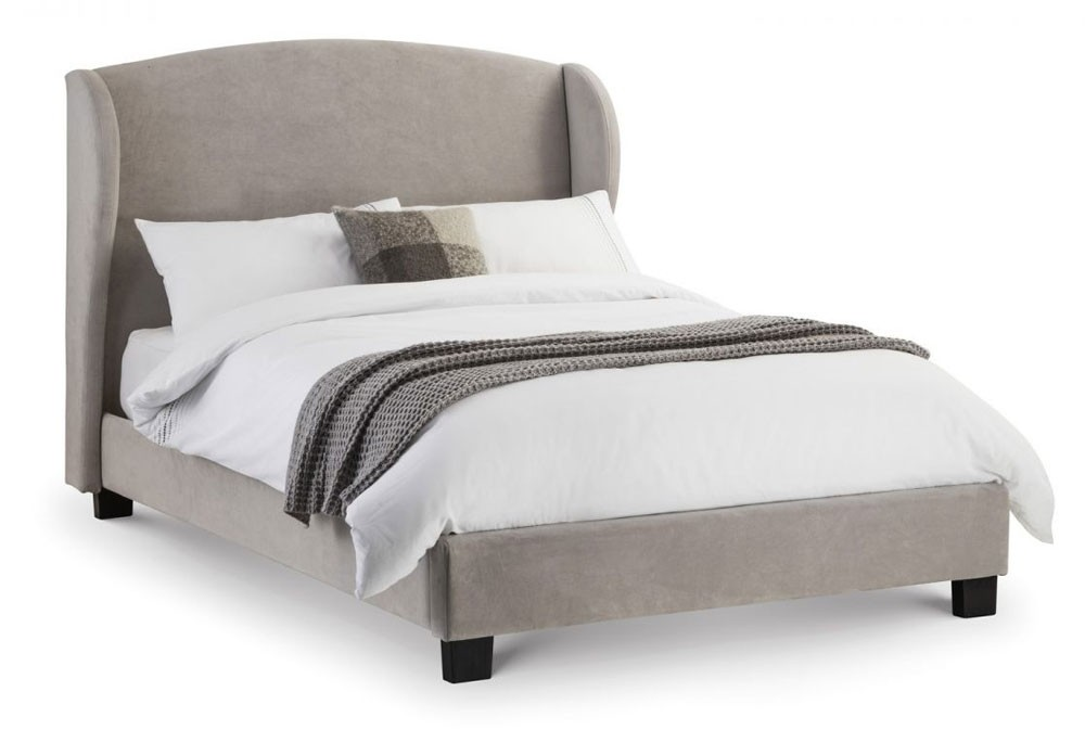 Belgium Grey Winged Bed Frame