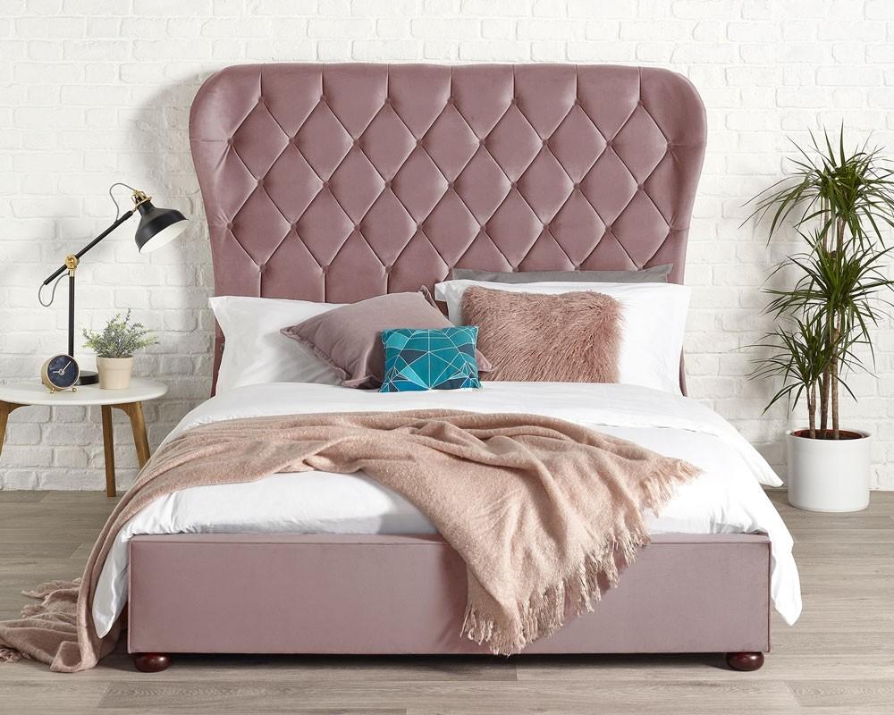 Zak Blush Bed Frame