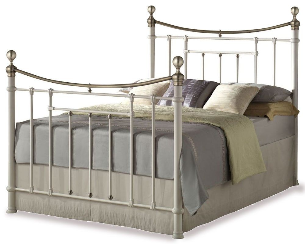 Bronte Cream Double Bed Frame