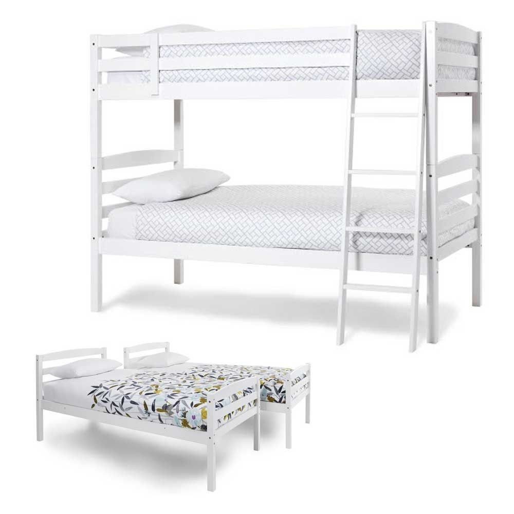 Brooke Opal White Bunk Bed