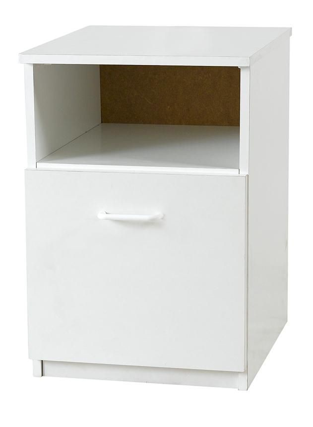 Budget White Bedside Locker
