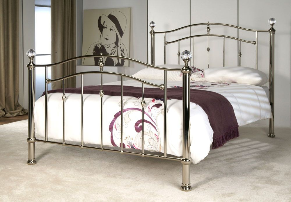 Callipso Chrome and Crystal Kingsize Bed Frame