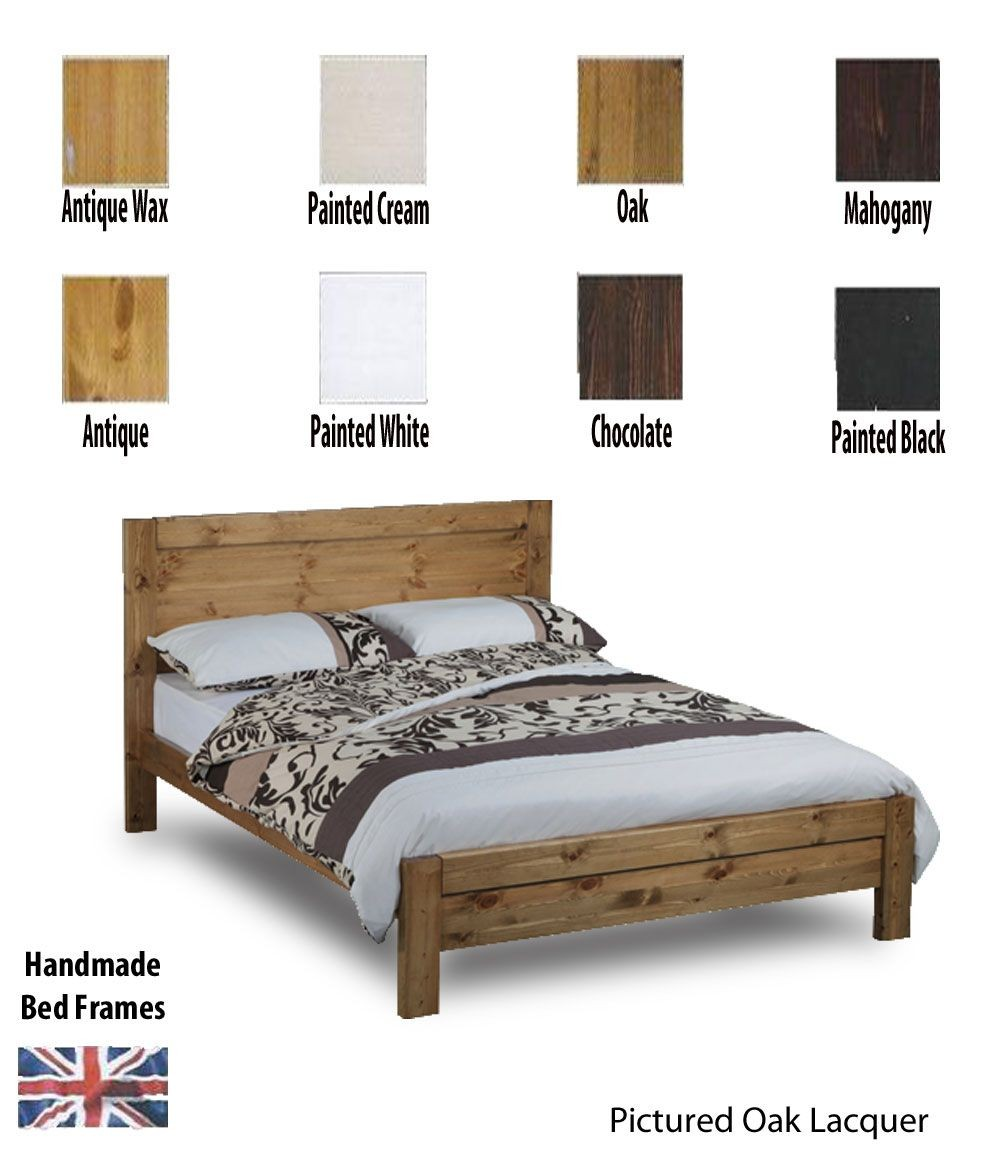 Calto Handcrafted Three Quarter Bed Frame