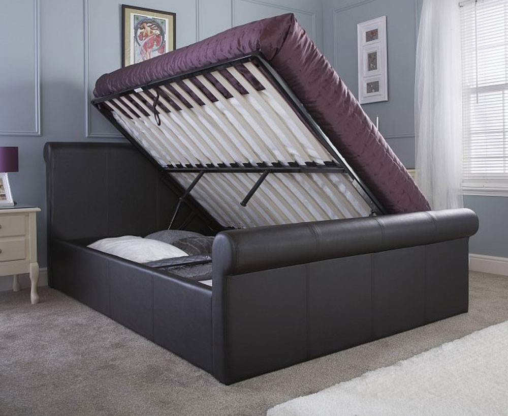 Carol Side Lift Kingsize Sleigh Bed Frame