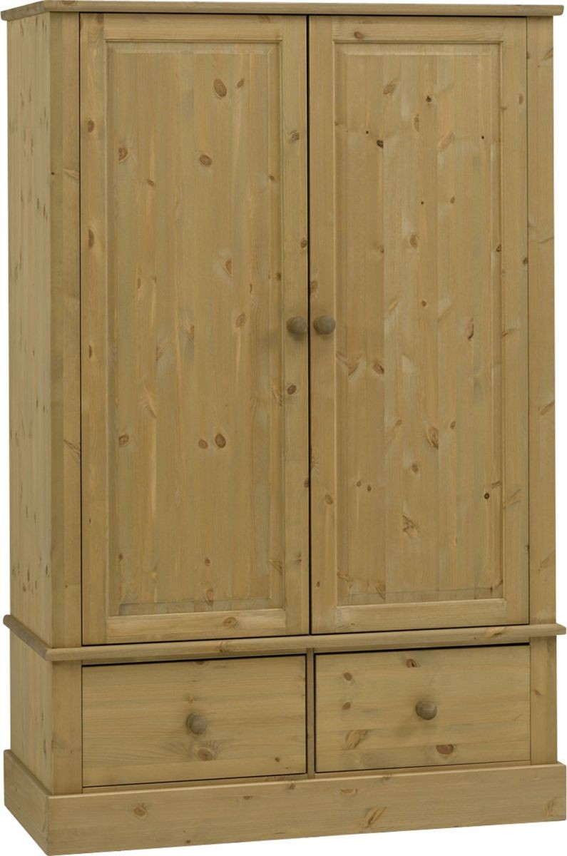 Castle Waxed Pine 2 Door/2 Drawer Robe
