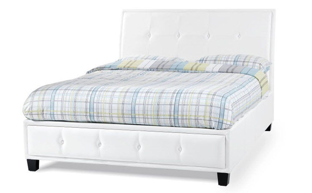 Catalan White Double Bed Frame