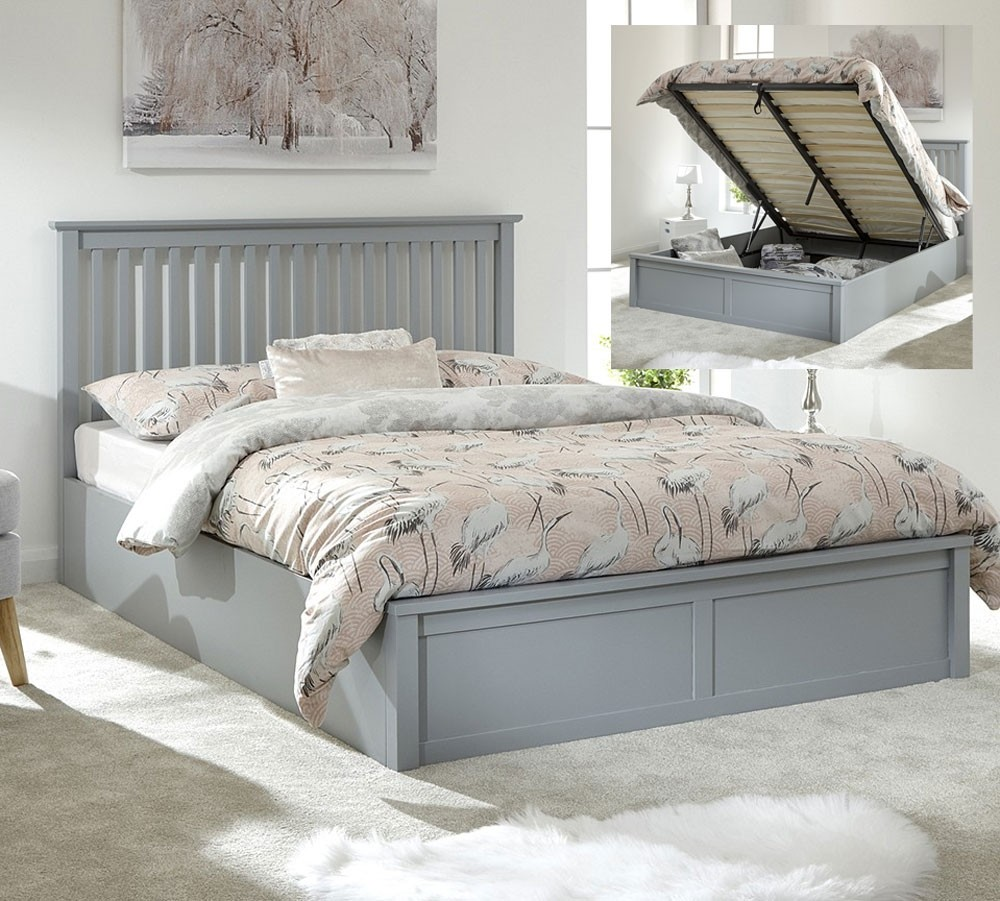 Connect Grey Ottoman Bed Frame
