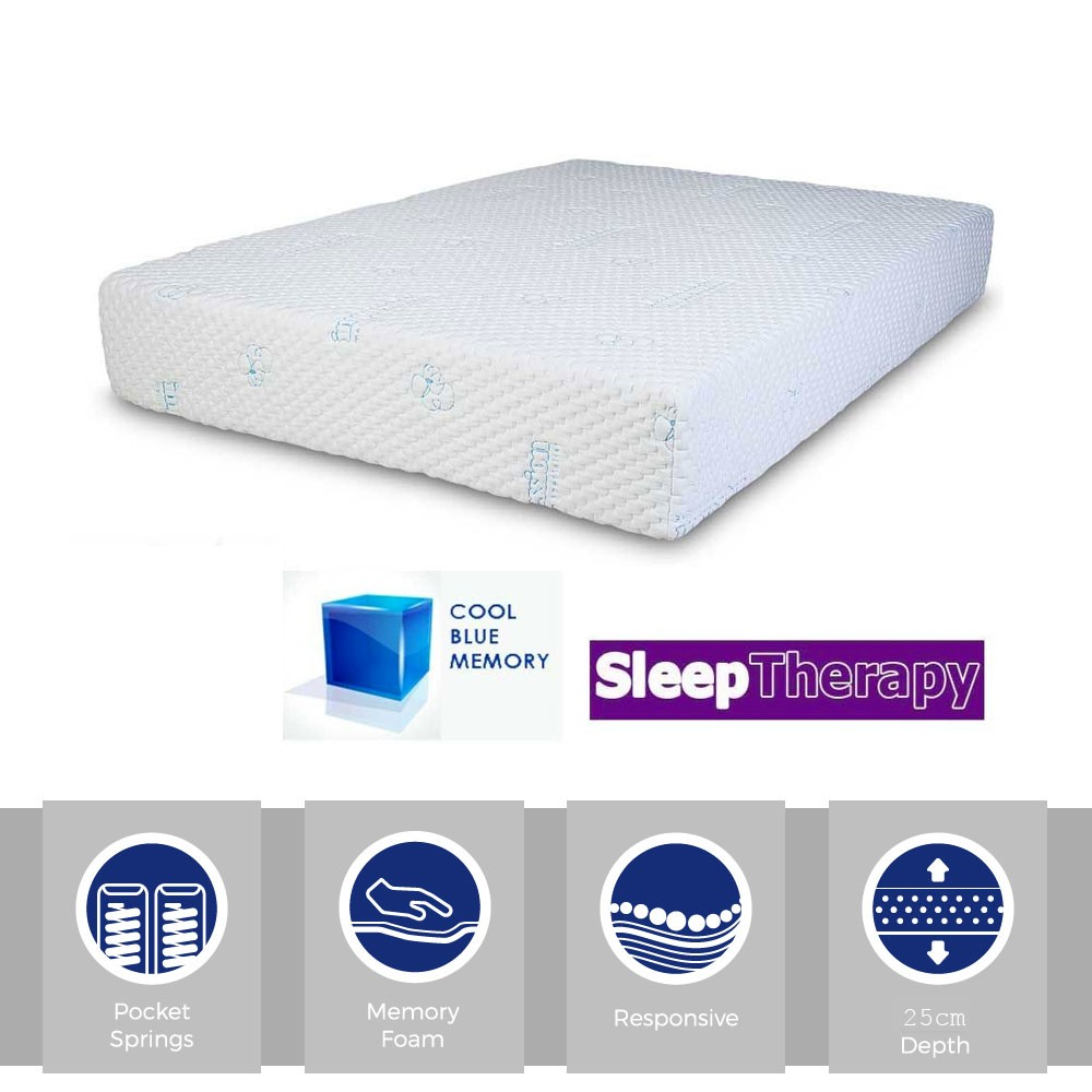 Sleeping Therapy CoolBlue Pocket 1000 Three Quarter Mattress