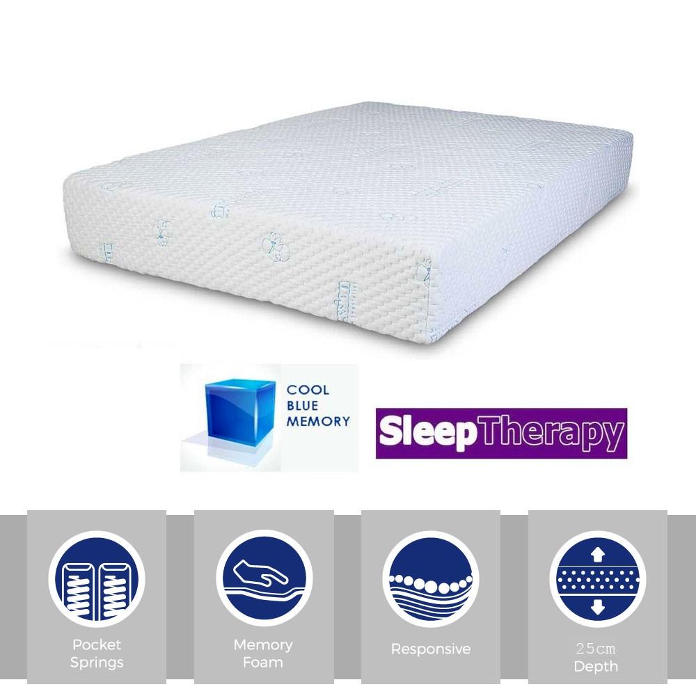 Sleeping Therapy CoolBlue Pocket 1000 Three Quarter Mattress
