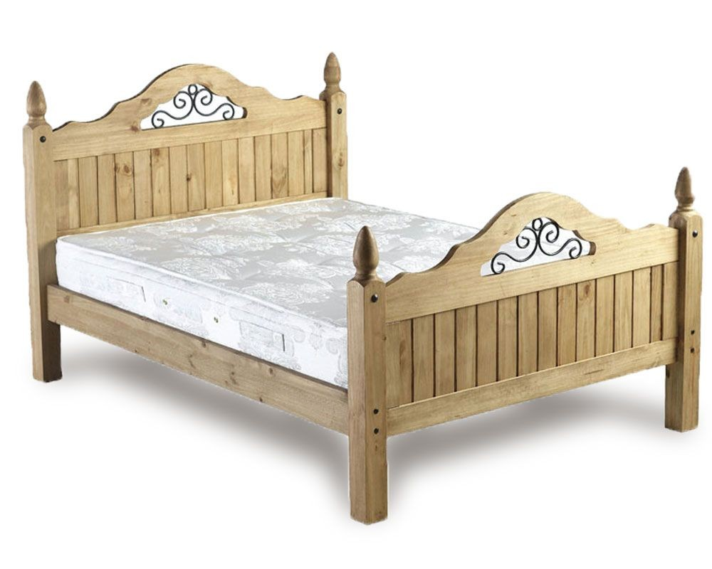 Corona Scroll High End Double Bed Frame