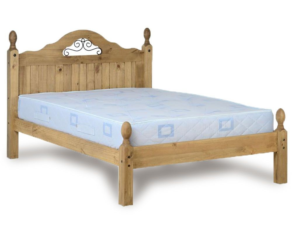 Corona Scroll Low Foot End Double Bed Frame