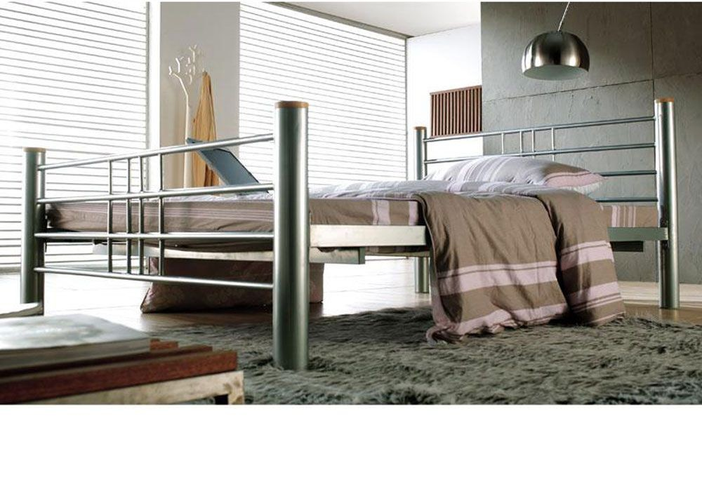 Cuban Silver Three Quarter Bed Frame