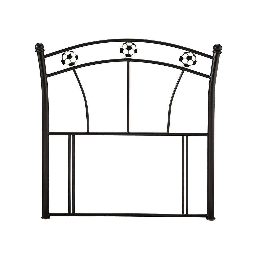 Soccer Black Single Headboard