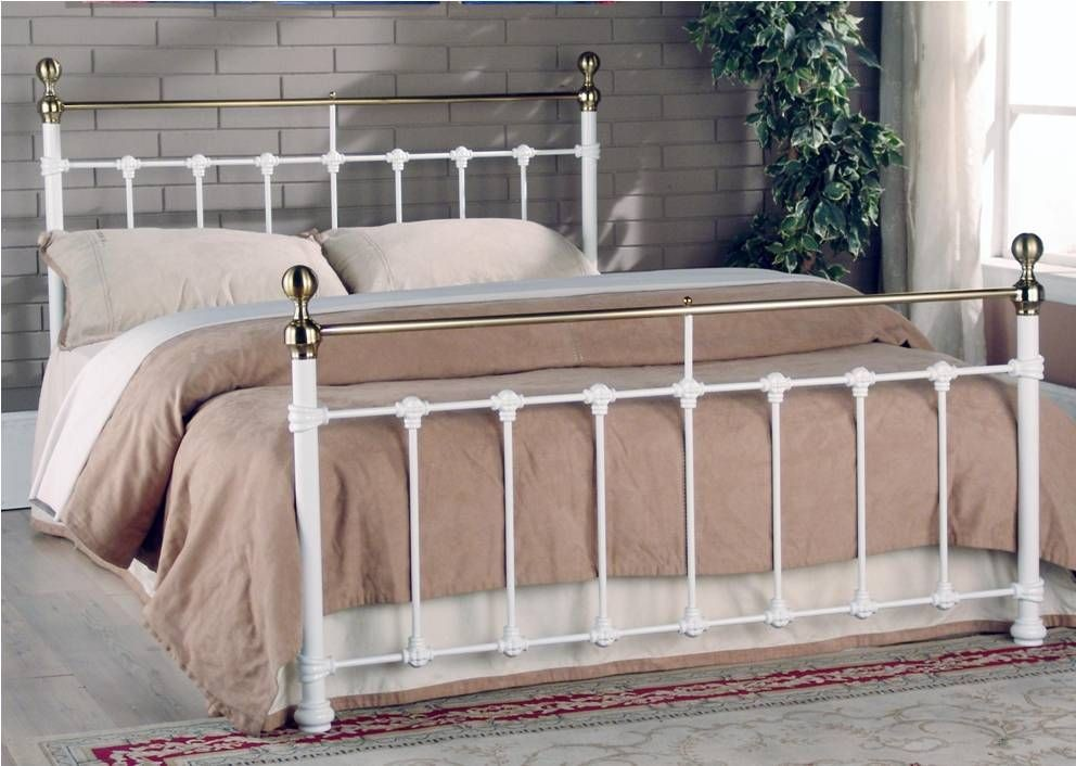 Tarvos White Double Bed Frame