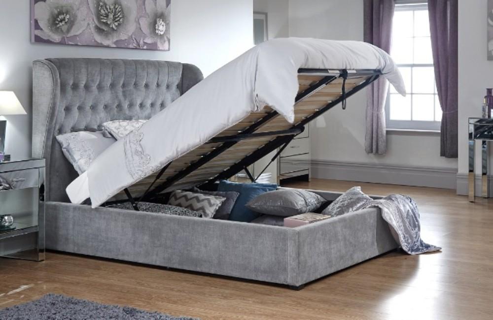 Dakar Platinum Ottoman Bed Frame