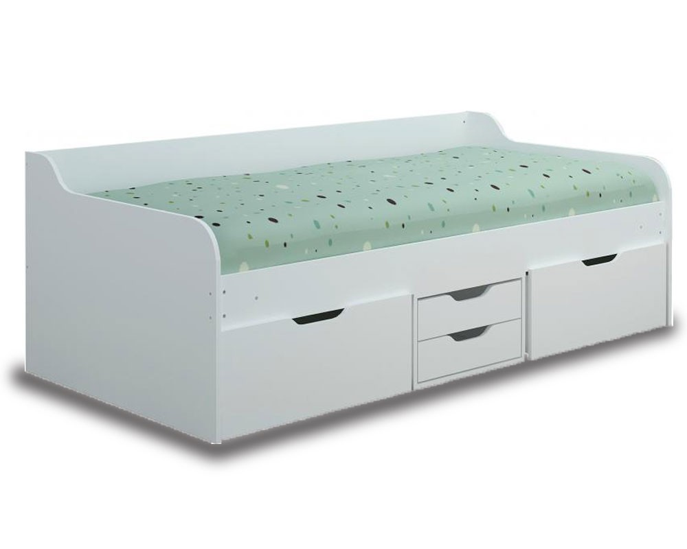 Danny White Storage Bed