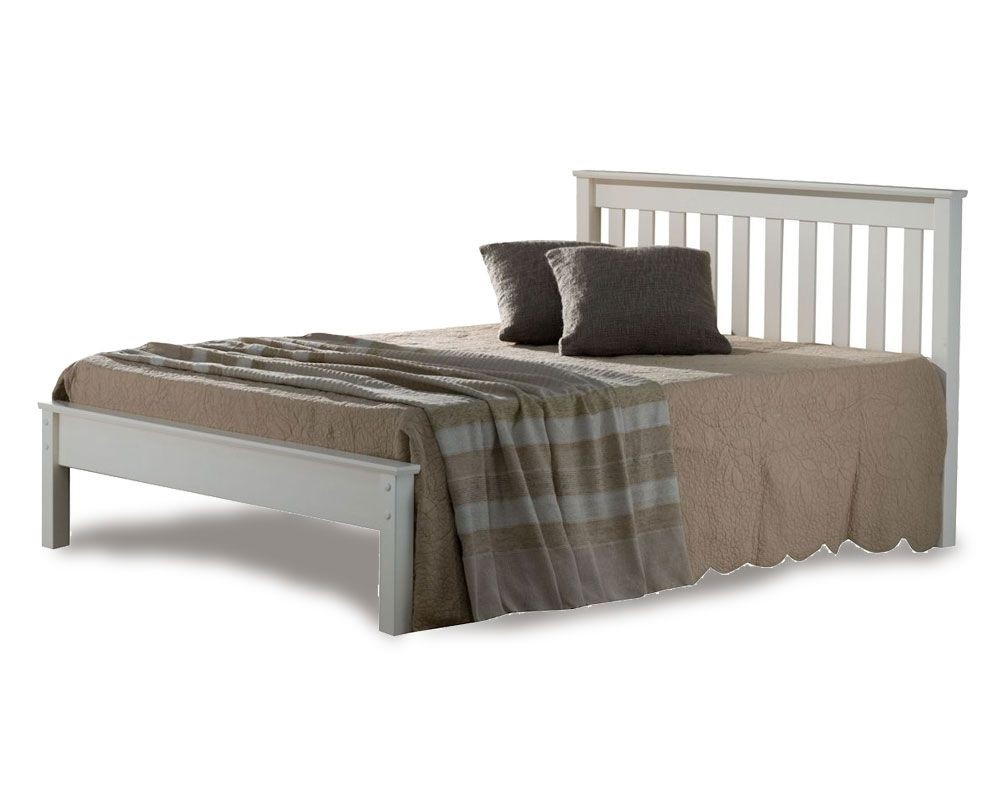 Denmark Low Foot Double Ivory Bed Frame