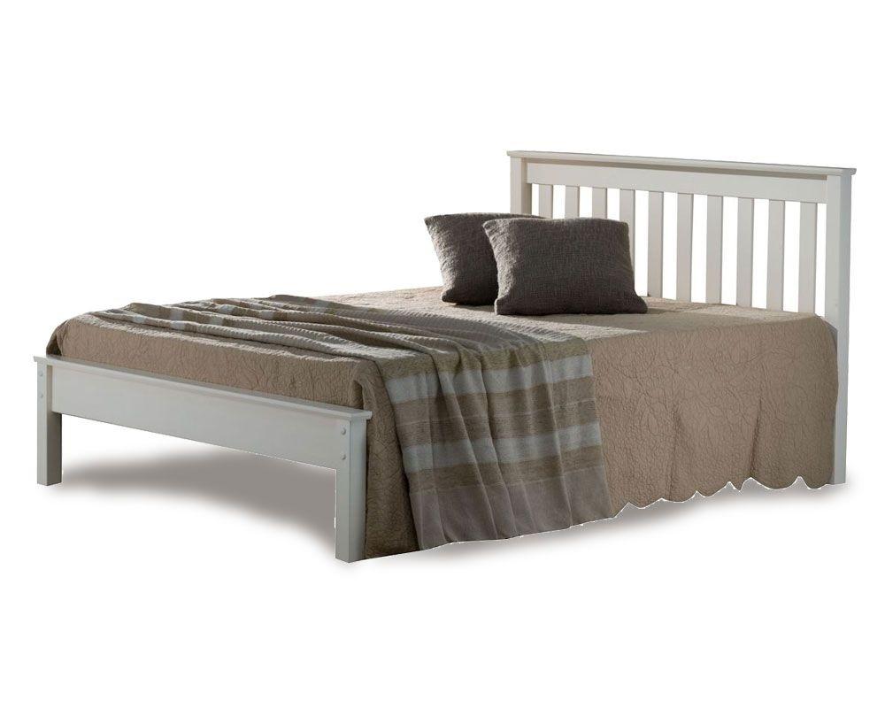 Denmark Low Foot Kingsize Ivory Bed Frame