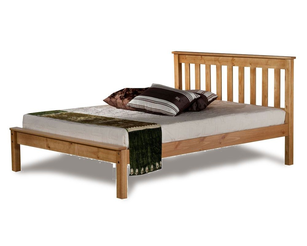 Denmark Low Foot Three Quarter 34 Pine Bed Frame