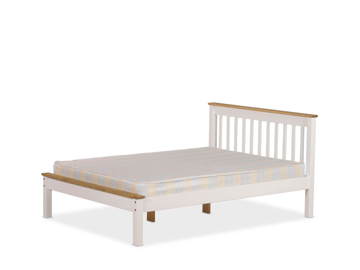 Derbyshire White Double Bed Frame
