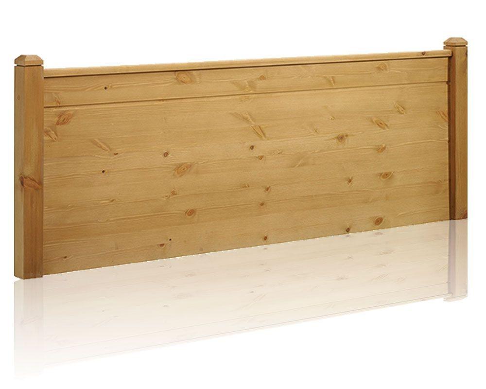 Duke Rustic Waxed Pine Single Headboard