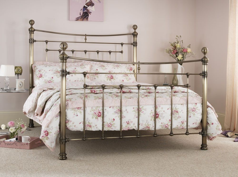 Edmond Antique Brass Kingsize Bed Frame