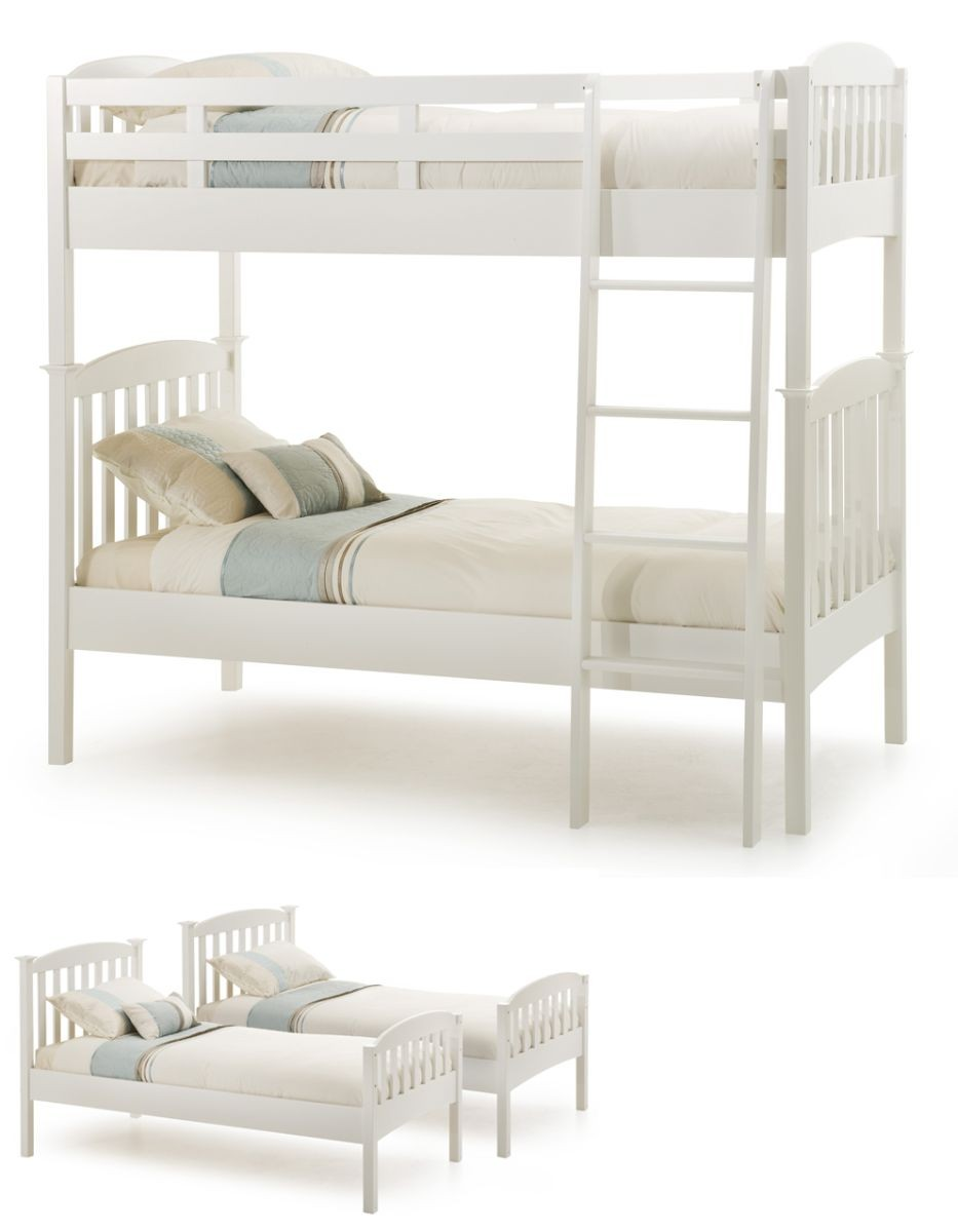 Helena Opal White Bunk Bed