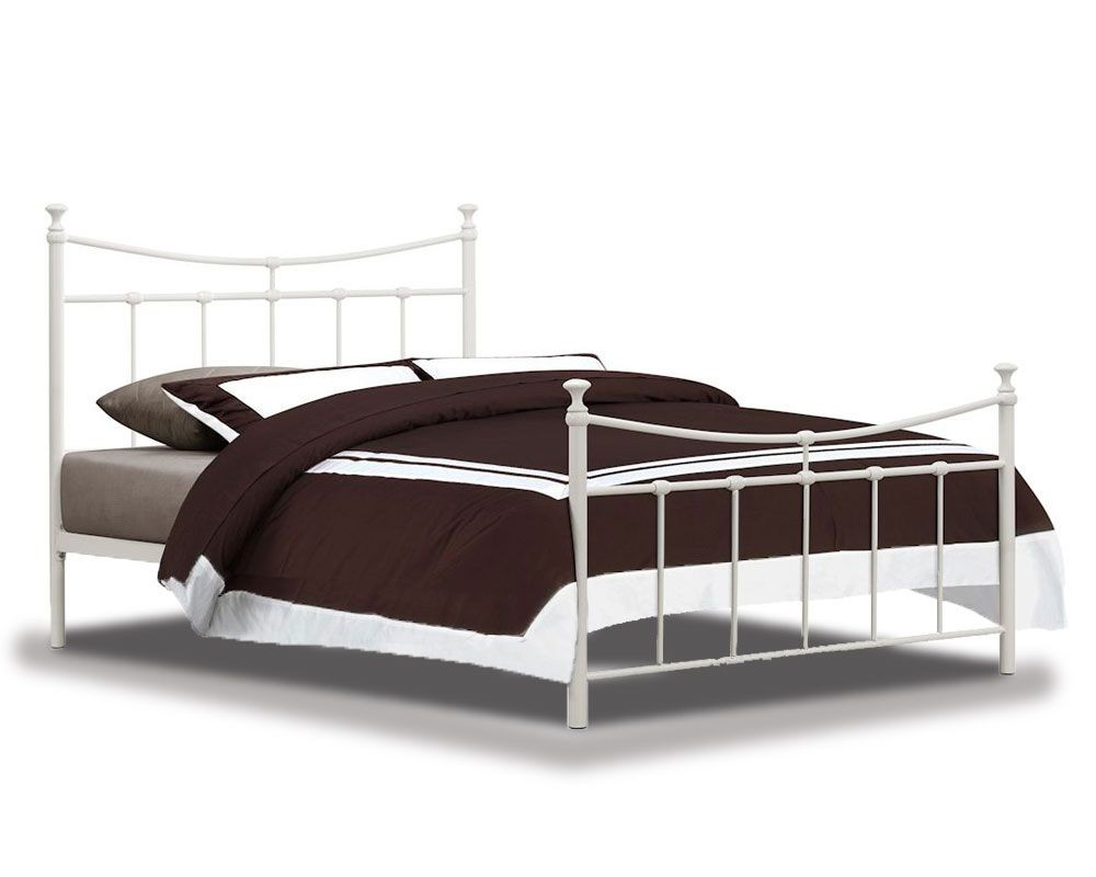 Emily Cream Double Bed Frame