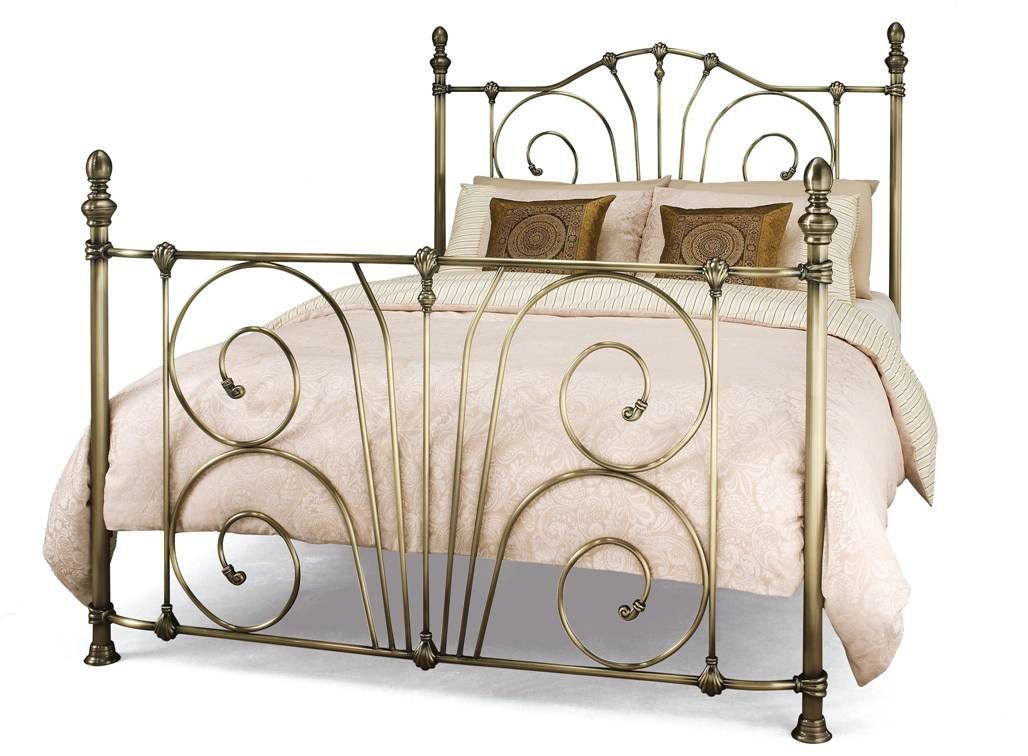 Jessica Brass Kingsize Bed Frame