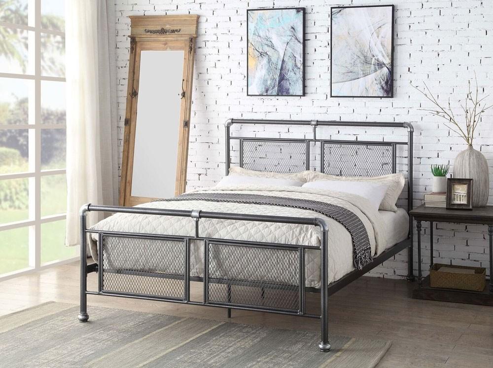Hopper Steel Bed Frame