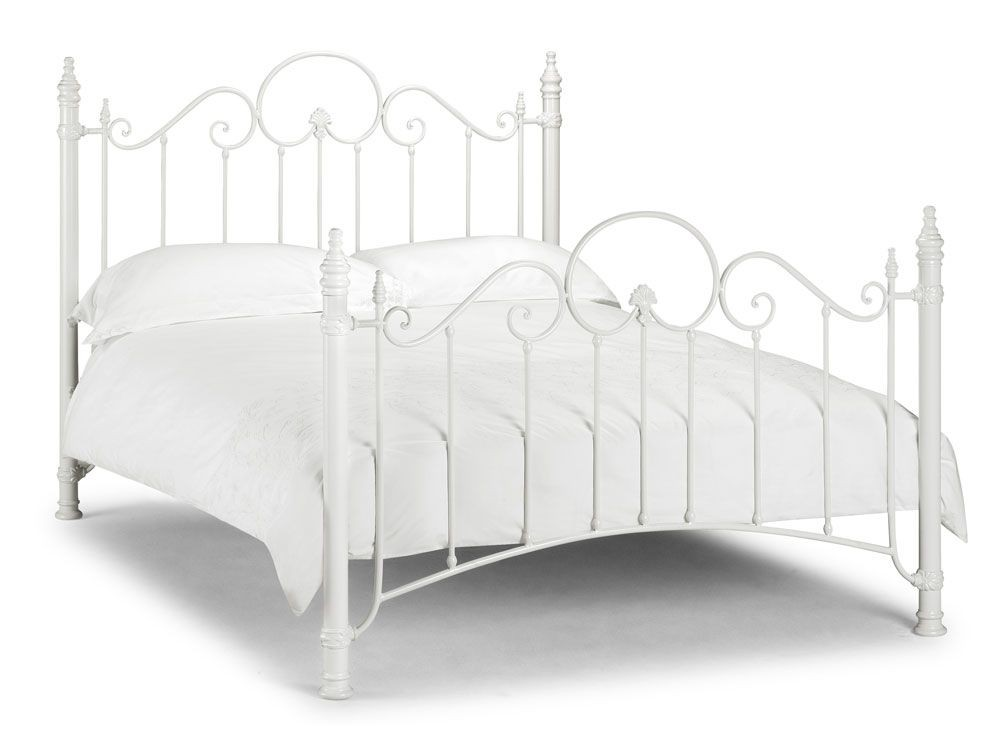 Florence Stone White Double Bed Frame