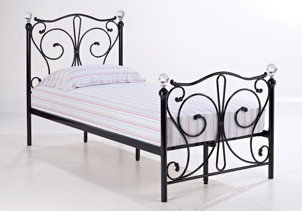 Florentine Black Single Bed Frame