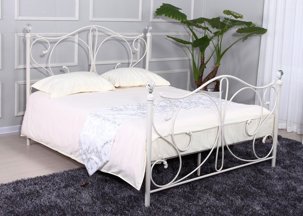 Florentine White Double Bed Frame