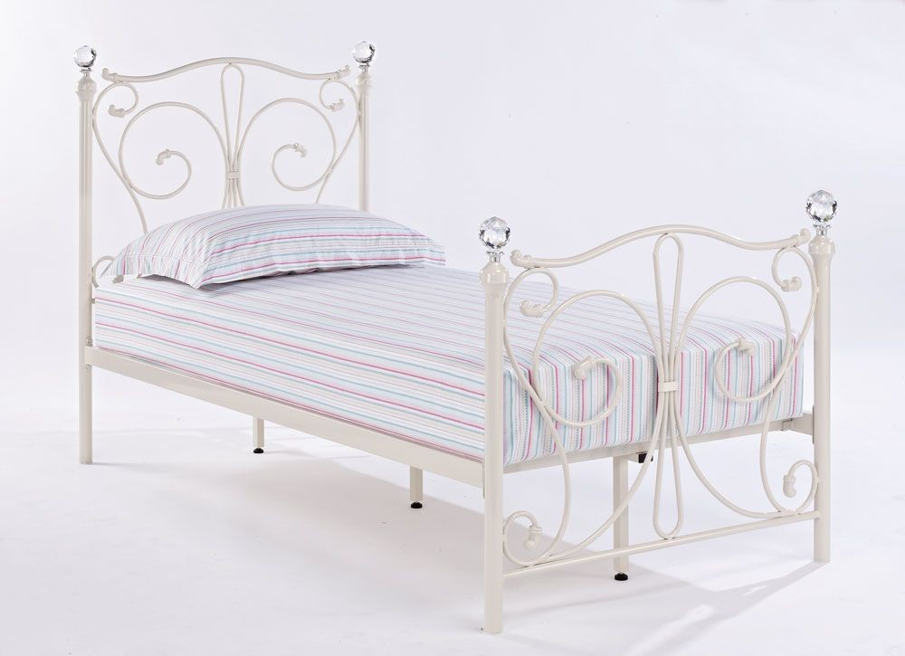 Florentine White Single Bed Frame